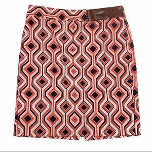 Michael Kors Geometric Faux Belt Pencil Skirt